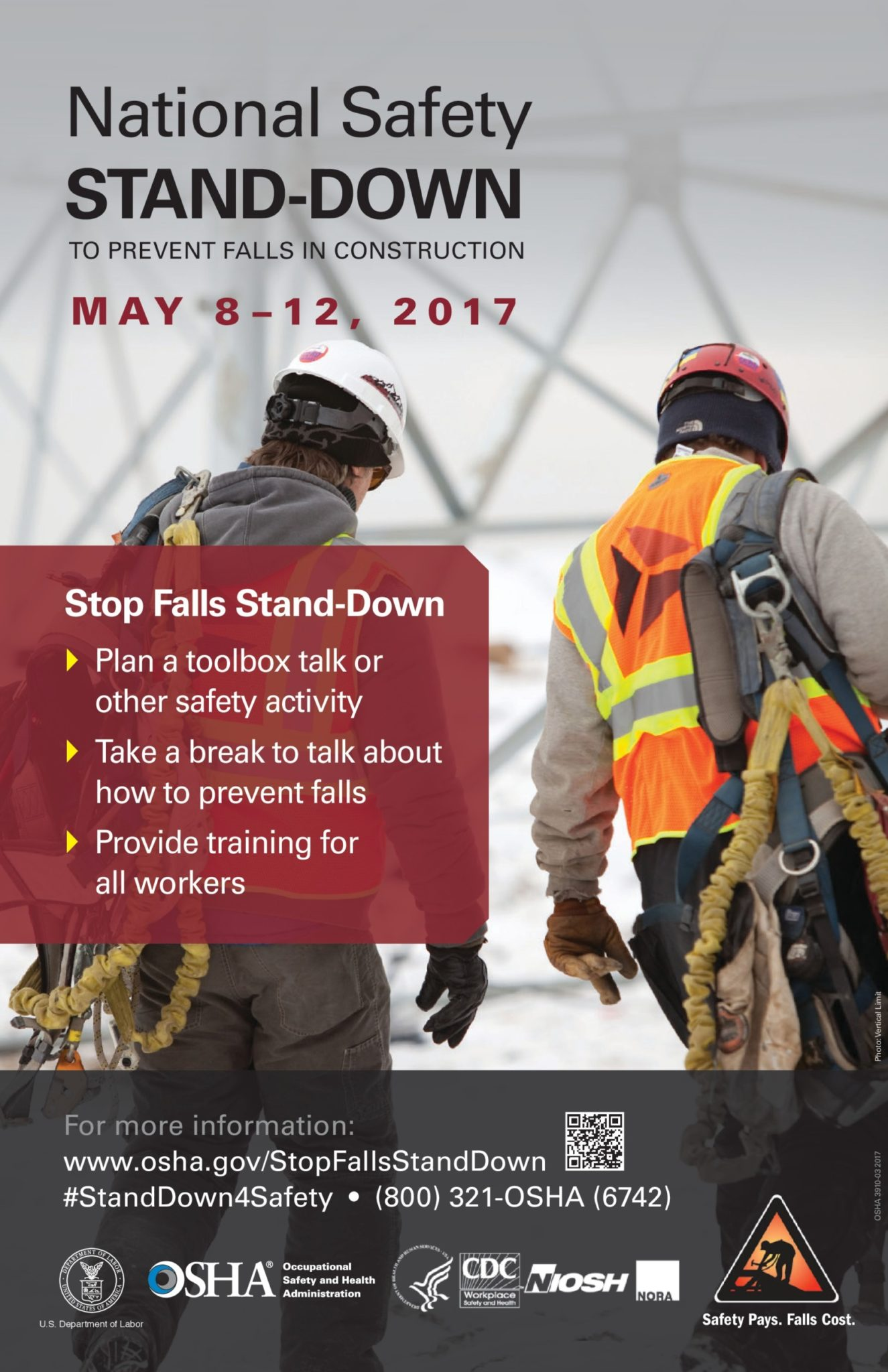 OSHA Safety Stand-Down May 8-12, 2017